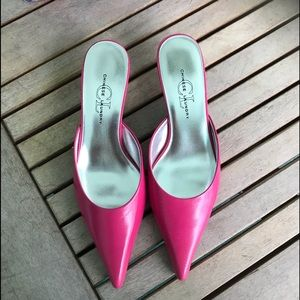 NWOT Chinese laundry hot pink pointy kitten heels